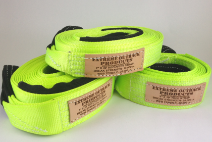 Extreme Outback High Visibility Recovery Strap 2""