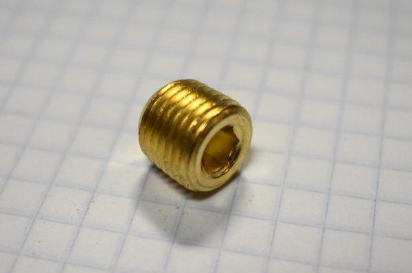 """1/4"""" Allen Head Brass Plug"""
