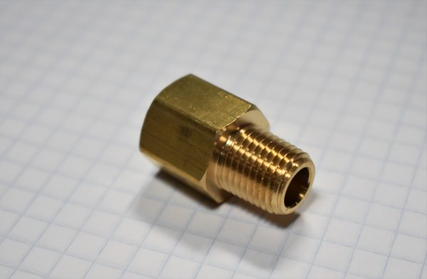 "1/4"" Male to 1/4"" Female Brass Adapter"
