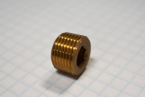 """3/8"""" Allen Head Brass Plug"""