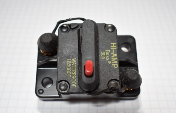 Manually Resettable 80 Amp Circuit Breaker