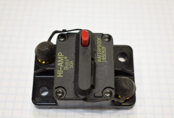 Manually Resettable 50 Amp Circuit Breaker